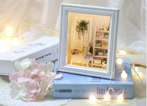 SEPTEMBER DIY Creative Cabin Sunshine Dormitory Photo Frame Hanging Wall Hanging Decoration Home Accessories Mini Creative Brithday Gift-US Warehouse