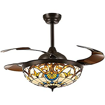 Moooni 42 Quot Mediterranean Style Ceiling Fans With Light And