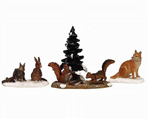 Lemax Christmas Village Woodland Animals 4 Piece Figurine Set #12516