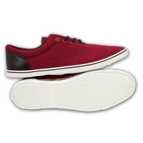 Crosshatch - Zapatillas de deporte para hombre Rojo - burdeos
