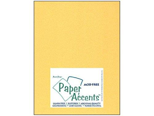 Accent Design Paper Accents ADP8511-25.885C - Cartulina de 22 quilates (8,5 x 28 cm), color dorado
