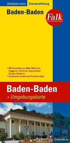 Falk Stadtplan Extra Standardfaltung Baden-Baden