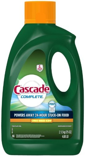 Cascade Complete Gel All-in-1 Dishwasher Detergent - 75 oz - Citrus breeze - 2 pk