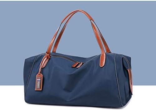 ハンドバッグ近距離旅行ナイロン服ストレージショルダーバッグファッショナブルな軽量大容量デザイン4色のオプション HMMSP (Color : Blue)