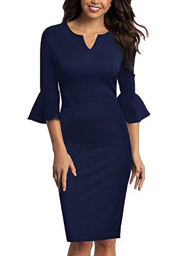 blue work dress - 6