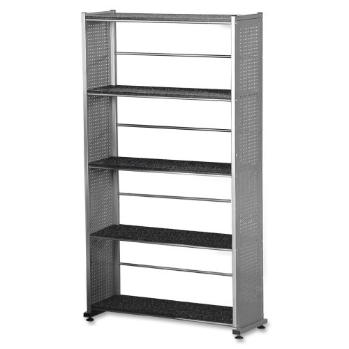 5 Shelving Accent Shelf (Mayline Small Office - Home Office Accent Shelving (5-Shelf) In Metalic Gray Paint,)