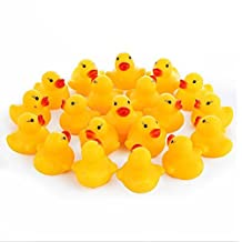 Pack of 20 Rubber Floating Yellow Ducks Bath Toys for Bathtime