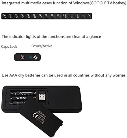 ILS – Mini Teclado inalámbrico 2.4 G ergonómico con ratón touchpad para Smart TV, Mini PC, HTPC, Consola, Computer (Layout Italiano): Amazon.es: Electrónica