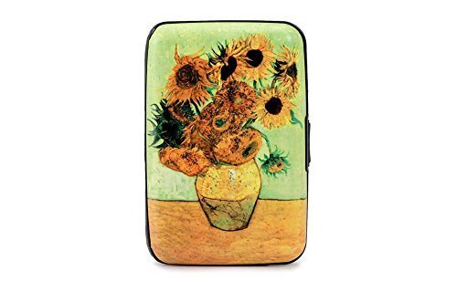 "Price comparison product image Vase With Twelve Sunflowers"" Van Gogh Armored Credit Card RFID Block Wallet Cash Holder"