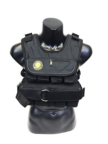 K2 Weighted Vest Short Narrow Style for Men 50lbs Adjustable Male Fitness Gear Black by k2elitevest