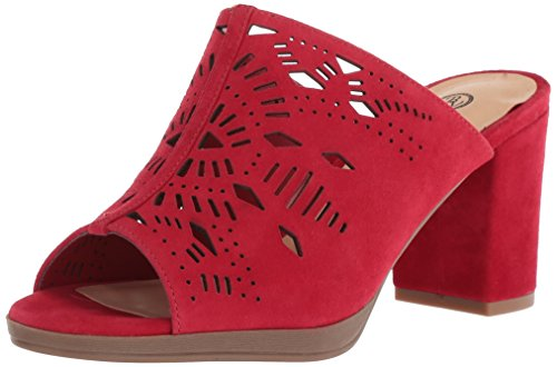 Bella Vita Women's Lark Heeled Sandal, Red Kid Suede, 8.5 N US from Bella Vita