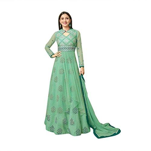 abito nuovo anteriore designer musulmane donne usura salwar anarkali partito vestito pakistane fessura Le gonna 945 indiano tradizionale lungo vO0z4qwx1