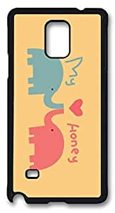 Lovely Elepant Easter Thanksgiving Personlized Masterpiece Limited Design PC Black Case for Samsung Galaxy Note 4 by Cases & Mousepads BY icecream design