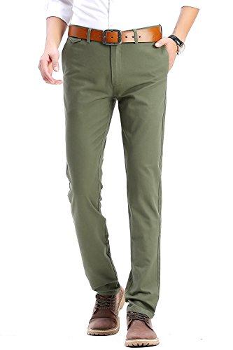 Green Khaki Flat Front - 9