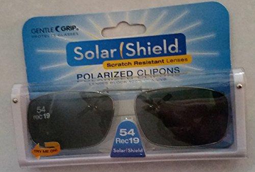 Solar Shield Polarized Clip-on Sunglasses 54 Rec 19 Gray Lenses Fits Full Frame from Solar Shield