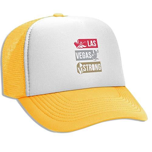FKOGG Unisex Las Vegas Strong Rebels Knights Raiders Cap, Breathable Mesh Baseball Hat Outdoor Sun Hats Beanies Yellow