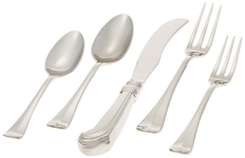 Scroll Teaspoon Royal - Colonial Williamsburg Royal Scroll Stainless Steel Flatware 5 Piece Place Setting