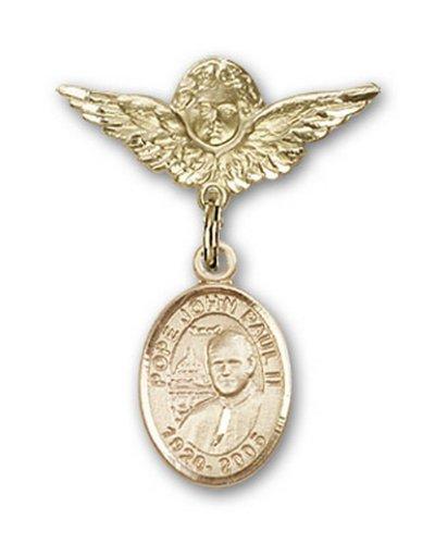 Icecarats Or Bijoux De Créateurs Pape Jean-Paul II Rempli Charme Ange Broche De Badge 1 X 3/4