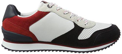 Hilfiger Denim Herren SM B2385arton 4c Sneaker Mehrfarbig (RWB)