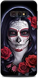 product image for Sugar Skull Rose Protective Decal Sticker for Samsung Galaxy s10e - Scratch Proof Vinyl Skin Wrap Thin Edge Line Cover and Made in USA