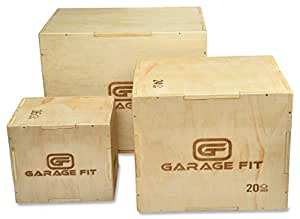 Wood Plyo Box - 12/14/16 inch 3 in 1 Plyo box Plyometric Box, Plyometric Jump Box, Plyometric Jump Boxes, Box Jump Boxes, Jump Box (12/14/16)