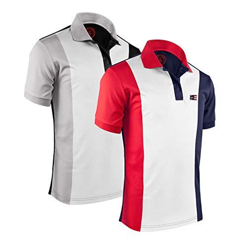 Albert Morris Men Polo Shirt 2 Pack - Macho Pack, Short Sleeve (Small)