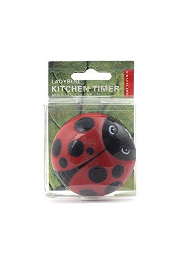 Kikkerland Ladybug Kitchen Timer