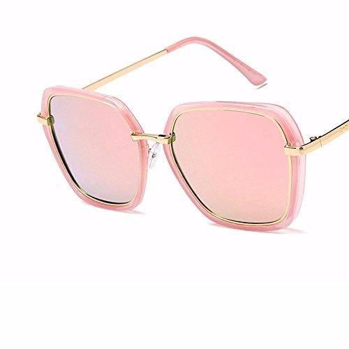 sol Gafas poligonales de deslumbramiento Sol Moda Brillante del Gafas de Sol de Negra Ceniza de Gafas Cubiertos Sol Liuxc qA1YEE