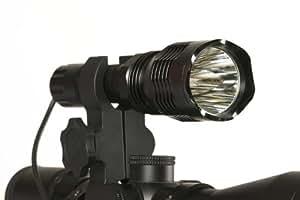 Coyote, Hog & Predator Hunting Light, Green LED Gun & Scope Light, 250 Yd Range