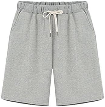 YiLianDa Shorts Larges Taille Élastique Casual Pantalons Courts Femme