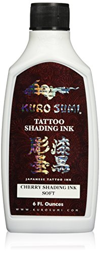 Cherry Tattoo (Kuro Sumi Tattoo Ink, Soft Cherry Shading, 6 Ounce)