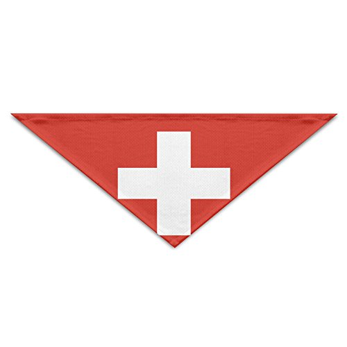 (Swiss Flag Bandana Triangle Neckerchief Bibs Scarfs Accessories For Pet Cats And Baby Puppies The Saliva Dog Towel)