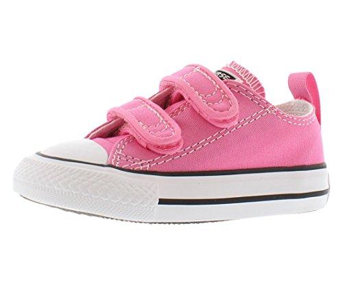 k Taylor All Star 2V Low Top Sneaker, Pink, 5 M US Toddler ()