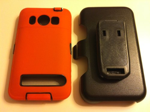 032884172047 - New Defender Case for Htc Evo 4g with Hip Holster That Doubles As a Media Stand Generic Otterbox Defender Series carousel main 2
