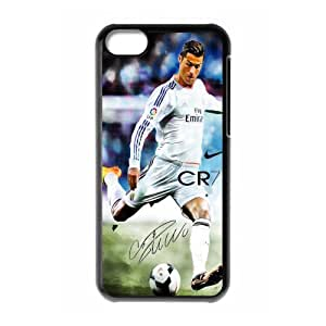 MEIMEISport Real Madrid Club de Futbol Cristiano Ronaldo Print Black Case With Hard Shell Cover for iphone 6 4.7 inch Case -JUST do it ,CR7 Classic style 10MEIMEI