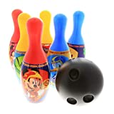 Disney Marvel Bowling Set in Display Box 6 Pins and Bowling Ball for Kids (Mickey Mouse Red)