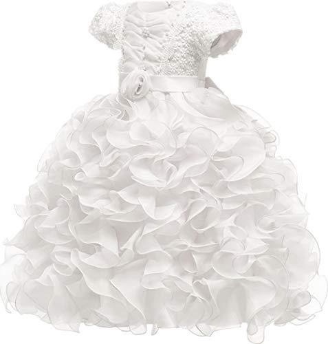 Jup'Elle Girl Dress Flower Ruffles Princess Party Wedding Dresses]()