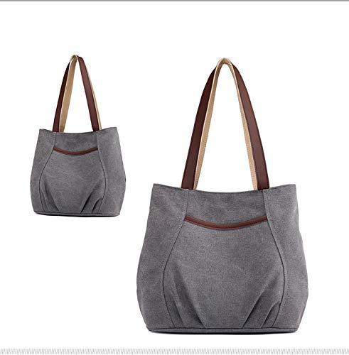 body gray Bandoulière tout Casual Sacs Ynnb À Femmes Shopping Sac Cross Plage Toile Gray Rétro Bag Fourre pSU7w