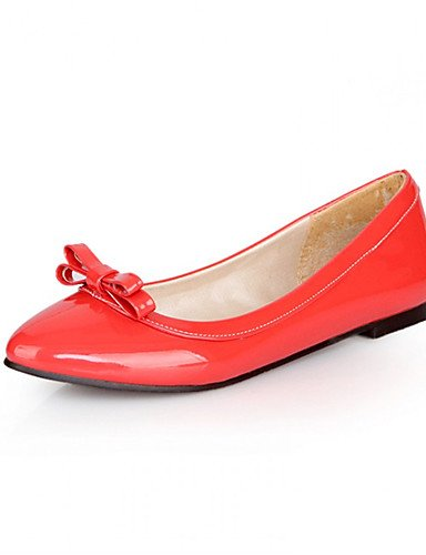 Semicuero Zapatos Rojo Tac¨®n y 1in red under Azul Oficina under Planos Plano 1in Negro Trabajo yellow Amarillo Casual Blanco de mujer Bailarina ZQ 4dpP4q