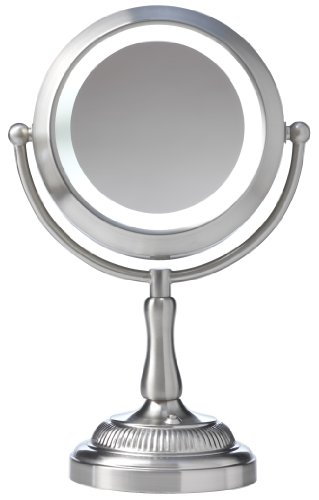 Sunter Lighting NDVM2923 Natural Daylight Lighted Vanity Mirror, Satin Nickel