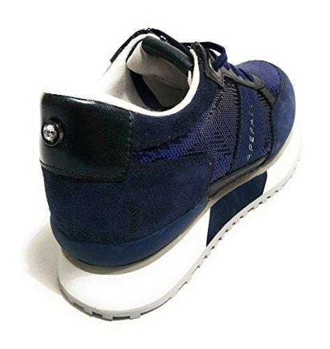 35 turquesa Piel de Mujer EU de Turquesa Apepazza Para Cordones Azul Zapatos x4fTqSz