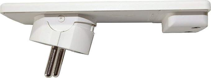Schulte Elektrotechnik GmbH 1510 0000 0300 EVOline Plug - Conector con tapa de protección, color blanco: Amazon.es: Bricolaje y herramientas
