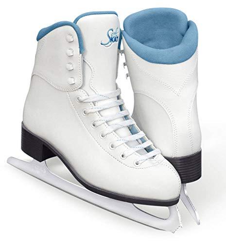 SoftSkate by Jackson GS180 Womens Ice Skates, Recreational Figure Skating (Blue Lining, 5)