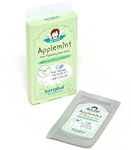 KOREAN COSMETICS, Baviphat_ Apple mint Pores Tightening Nose Pack 10 Sheets (pores management, blackheads and sebum removal)[001KR]