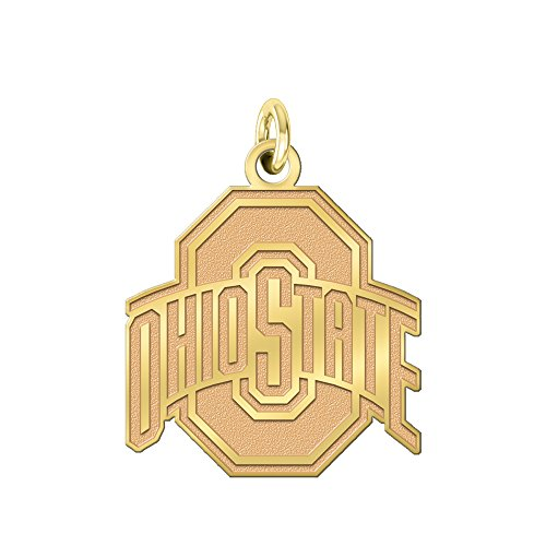 College Jewelry Ohio State University Buckeyes Solid 14K Yellow Gold Natural Finish Cut Out Logo Charm (1/2