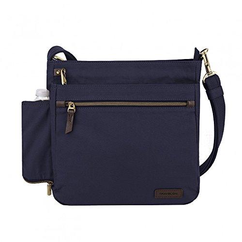 (Travelon: Anti-theft Courier N/s Crossbody Bag - Navy)