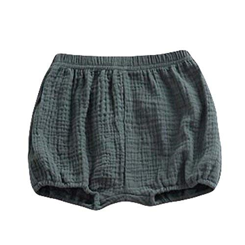 LOOLY Baby Bloomers Unisex Baby Girls Boys Cotton Linen Blend Shorts (80 (6-12Month), Green)