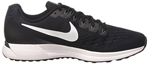 Nike Air Zoom Pegasus 34, Scarpe da Trail Running Uomo Nero (Black/White/Dark Grey/Anthracite)