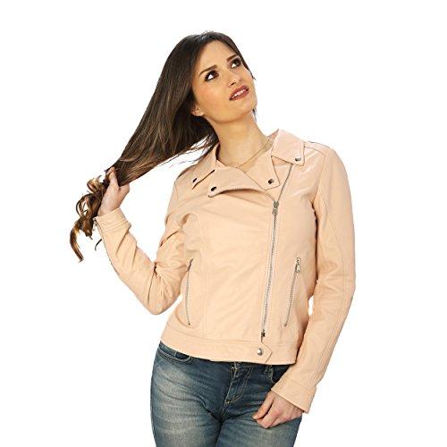 Chaqueta mujer hecha Antiguo de Aren Rosa en Italia piel para 4Iw14nqd