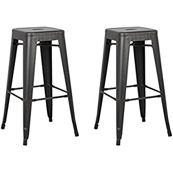 Amazoncom Backless Modern Light Weight Industrial Contemporary